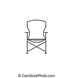 Camping chair vector icon isolated on white background