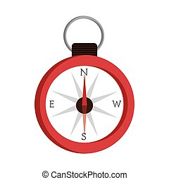 camping compass isolated icon design