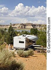 camping, deseert