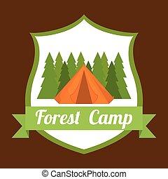 Camping design.