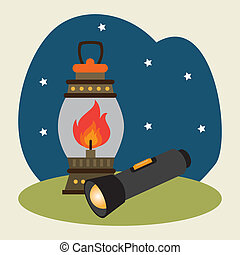 Camping design over landscape background, vector...