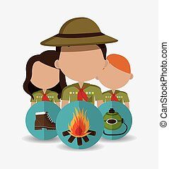 Camping design. - Camping design over white background,...