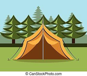 Camping design, vector illustration.