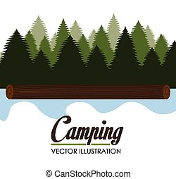 Camping design, vector illustration. - Camping design over...