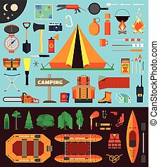 Camping equipment and tools