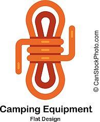 Camping Equipment Flat Icon