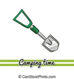 Camping Equipment Shovel