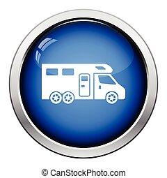 Camping family caravan  icon