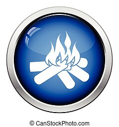 Camping fire icon
