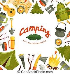 Camping Flat Illustration