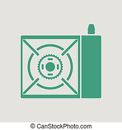 Camping gas burner stove icon