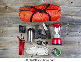 Camping gear and personal protection accessories - Overhead...