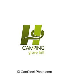 Camping grove hill sign