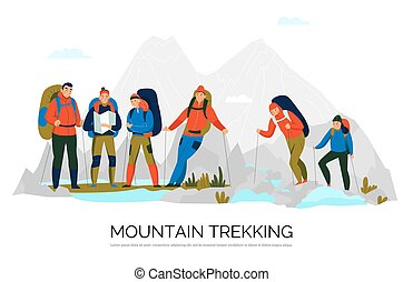 Camping Hiking Tourism Composition