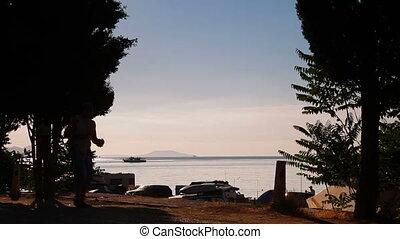 Holiday Camp by Sea, Crimea, Black Sea