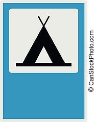 Camping icon, flat style.