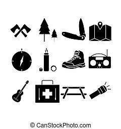 Glyph - Camping Icon Glyph