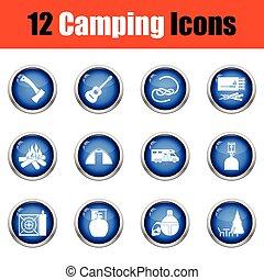 Camping icon set.