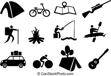 Camping Icon Set - Vector illustration of icon set related...