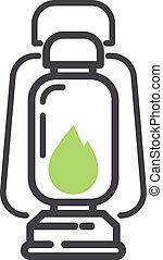Camping icon vector isolated