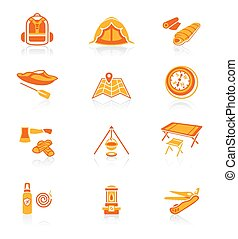 Camping icons || JUICY series