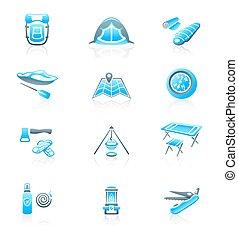 Camping icons || MARINE series