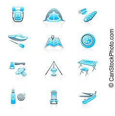Camping icons || MARINE series