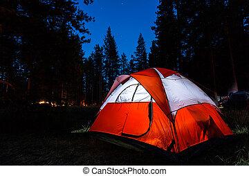 Camping - Illuminated tent