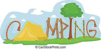 Camping - Illustration Featuring a Campsite