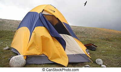 Camping in Mongolian Altai at Khoto