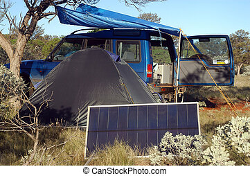 Camping in the bush - Camping in the Australian bush with...