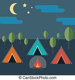 Camping in Wild Nature