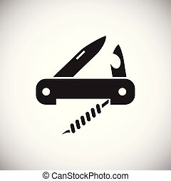 Camping knife icon on white background for graphic and web design, Modern simple vector sign. Internet concept. Trendy symbol for website design web button or mobile app.