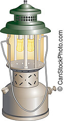 Camping Lantern - Illustration of a camping lantern used to...