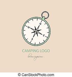 Camping logo. Vector