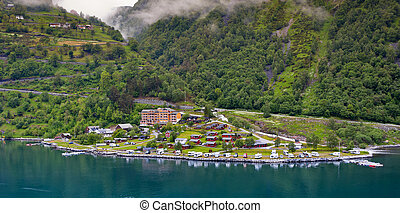 Camping near the sea