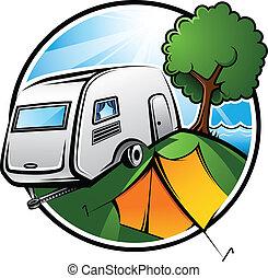 camping, område