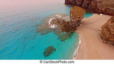 Camping on rocky beach - Two tent on Playa de los Muertos...