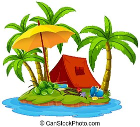 Camping on the island