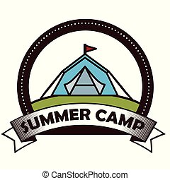 camping outdoor adventure logo