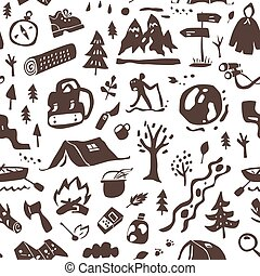 Camping - seamless background
