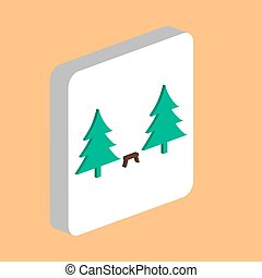 Camping Simple vector icon. Illustration symbol design template for web mobile UI element. Perfect color isometric pictogram on 3d white square. Camping icons for business project.