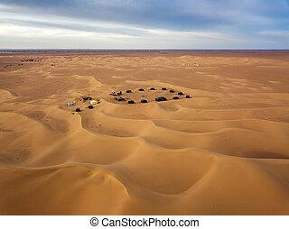 camping site in Sahara desert Africa