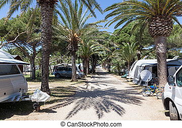 Camping site in southern Spain