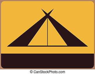 Camping site symbol. Place for any text