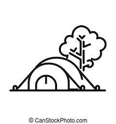 camping tent illustration design