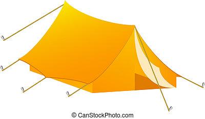 Camping tent in orange design