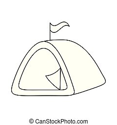 camping tent isolated icon