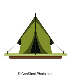 Camping tent symbol isolated