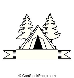 camping tent tree